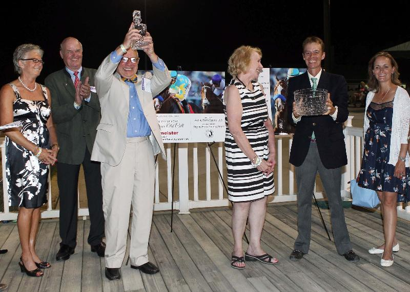 Dr. von Lepel and the rest of the Audley gang accepting the 2012 Virginia Breeder of the Year award this summer.