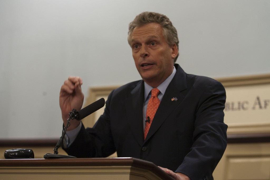 Governor Terry McAuliffe. Image courtesy Wikipedia Commons.
