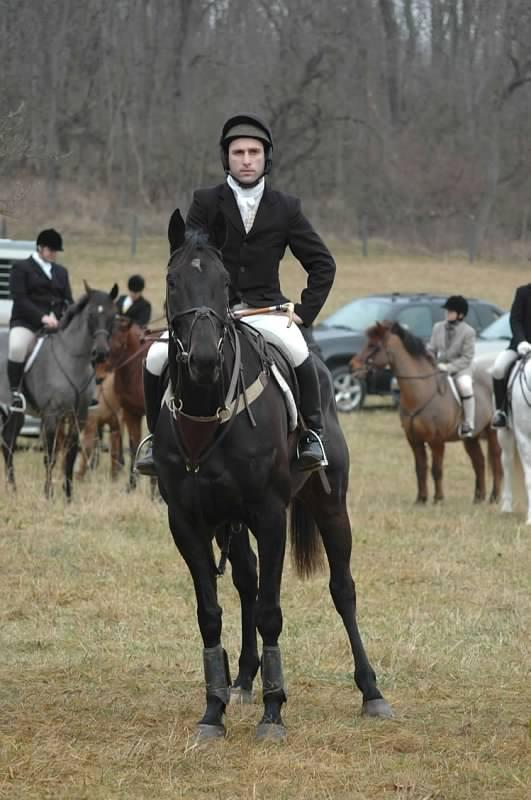 Haynes on Hot Rize, who found his feet in the hunting field. Photo courtesy Russell Haynes.