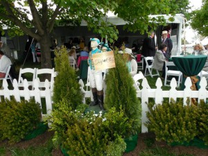 The beautiful VTA Turf Club tent on Gold Cup day. Photo courtesy Sherry Whiting.