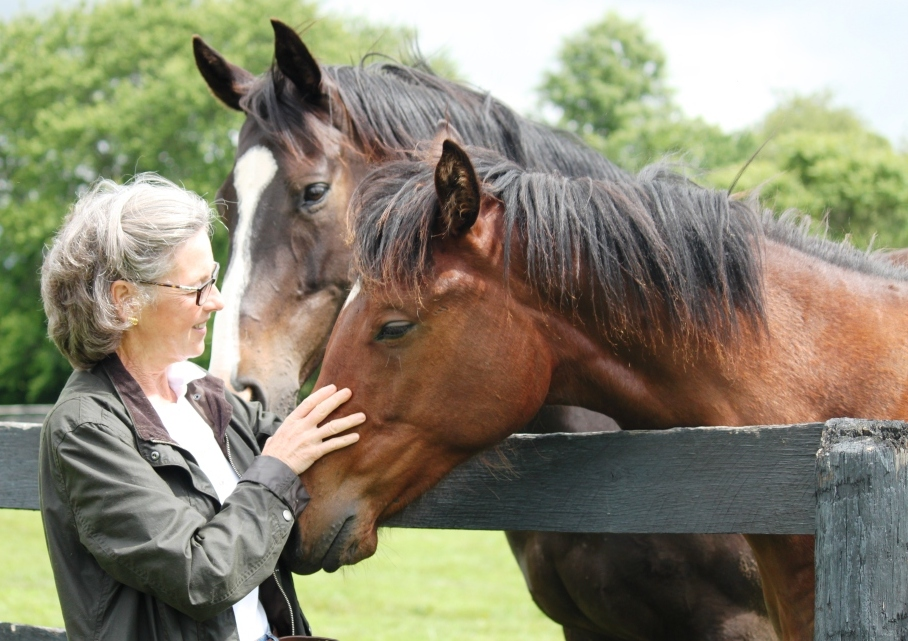 Lauren Woolcott at Woodslane Farm, where she and husband Rene raised Tonalist. Photo courtesy Woolcott.