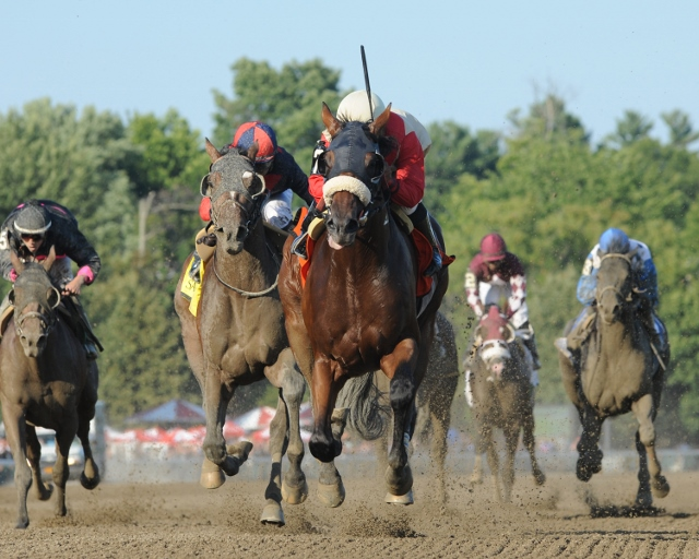 Wicked Strong defeated Grade I winner Tonalist, also raised in Virginia, in the Grade II Jim Dandy at Saratoga. Photo courtesy Adam Coglianese.