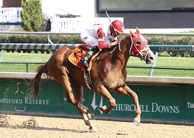 Thankyou Marylou romps in the Grade III Dogwood. Photo courtesy Churchill Downs.