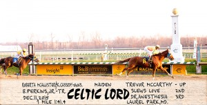 Celtic Lord, who trailed by 14 1/2 lengths, comes back to win December 11 at Laurel.