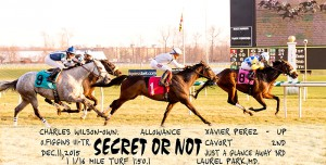 Secret Or Not earned her second straight win by capturing a $41,000 allowance race at Laurel December 11.