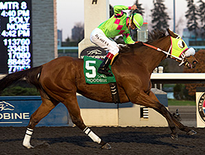 Miss Mischief wins the Grade 2 Bessarabian Stakes at Woodbine November 15, 2015. Photo by Michael Burns.