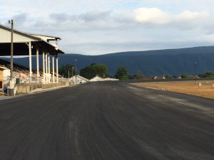 Shenandoah Downs recently underwent a renovation to widen track and bank the turns.