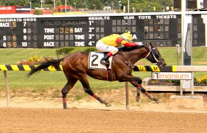 CB Bodemester broke his maiden September 2nd at Timonium. Photo by Jim McCue.