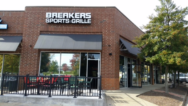 The  OTB at  Breakers is in the TJ Maxx Shopping Center and has plenty of free parking.